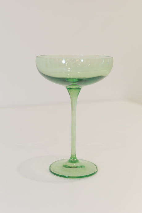 Estelle Colored Champagne Coupe Stemware - Set of 6 {Mint Green}