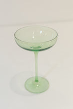 Load image into Gallery viewer, Estelle Colored Champagne Coupe Stemware {Mint Green}