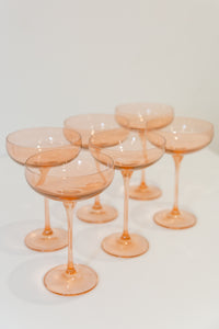 Estelle Colored Champagne Coupe Stemware - Set of 2 {Blush Pink}