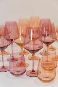 Estelle Colored Wine Stemware - Set of 6 {Rose}