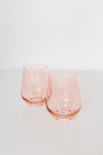 Load image into Gallery viewer, Estelle Colored Wine Stemless - Set of 2 {Blush Pink}