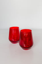 Load image into Gallery viewer, Estelle Colored Wine Stemless - Set of 2 {Red}
