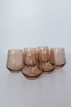 Load image into Gallery viewer, Estelle Colored Wine Stemless - Set of 6 {Amber Smoke}