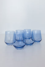 Load image into Gallery viewer, Estelle Colored Wine Stemless - Set of 6 {Cobalt Blue}
