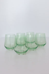 Estelle Colored Wine Stemless - Set of 6 {Mint Green}