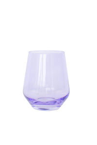 Estelle Colored Wine Stemless - Set of 6 {Lavender}