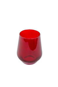 Estelle Colored Wine Stemless - Set of 2 {Red}