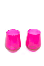 Load image into Gallery viewer, Estelle Colored Wine Stemless - Set of 6 {Fuchsia}
