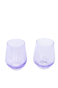Estelle Colored Wine Stemless - Set of 2 {Lavender}