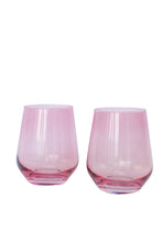Load image into Gallery viewer, Estelle Colored Wine Stemless - Set of 6 {Rose}