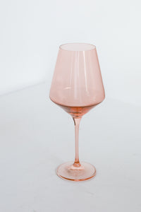 Estelle Colored Wine Stemware - Set of 2 {Blush Pink}