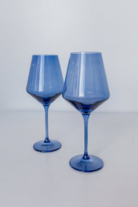 Estelle Colored Wine Stemware - Set of 2 {Cobalt Blue}