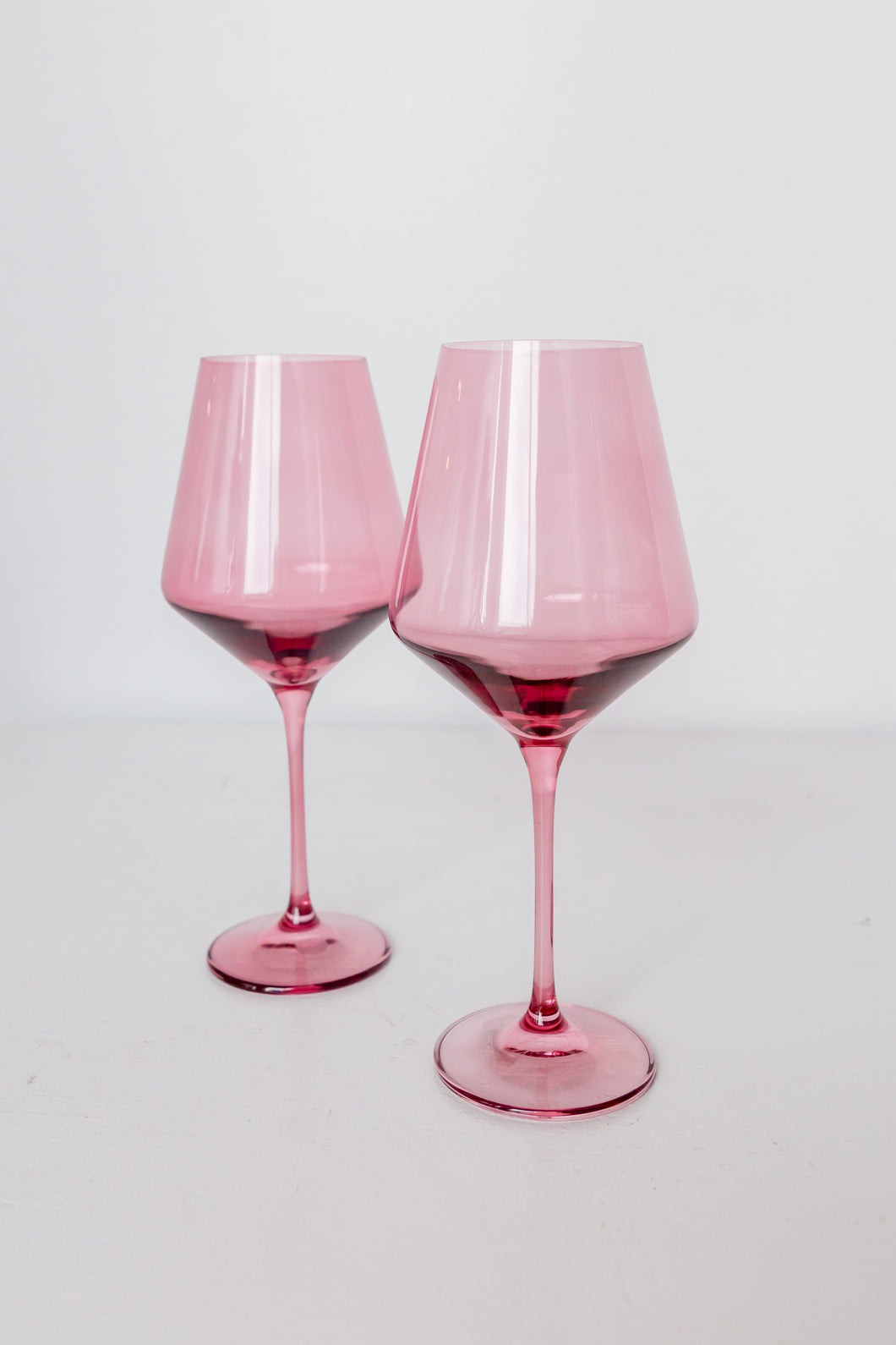 Estelle Colored Wine Stemware - Set of 2 {Rose}
