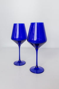 Estelle Colored Wine Stemware - Set of 2 {Royal Blue}