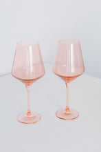 Load image into Gallery viewer, Estelle Colored Wine Stemware - Set of 2 {Blush Pink}