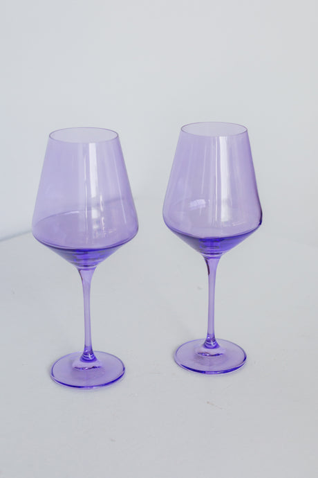 Estelle Colored Wine Stemware - Set of 2 {Lavender}