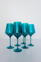 Load image into Gallery viewer, Estelle Colored Wine Stemware - Set of 6 {Emerald Green}