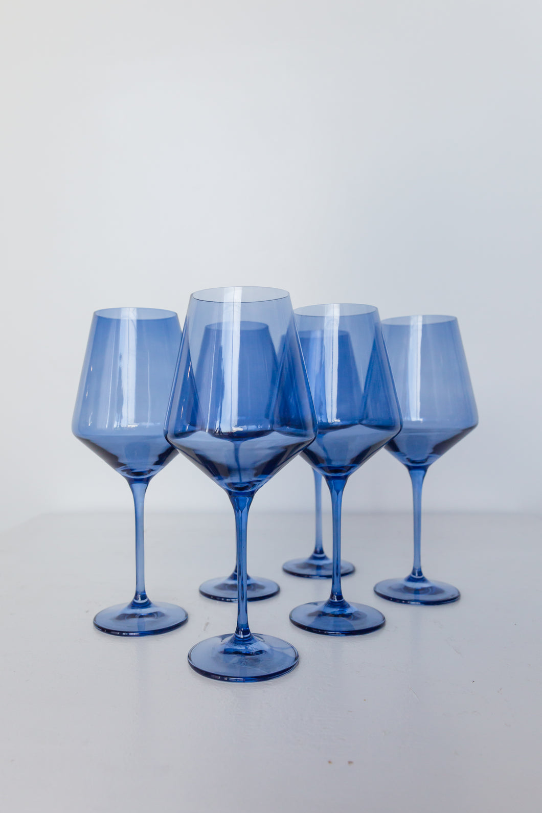 Estelle Colored Wine Stemware - Set of 6 {Cobalt Blue}