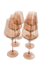 Load image into Gallery viewer, Estelle Colored Wine Stemware - Set of 6 {Amber Smoke}