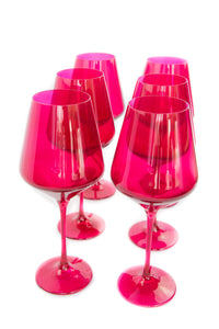 Estelle Colored Wine Stemware - Set of 6 {Fuchsia}