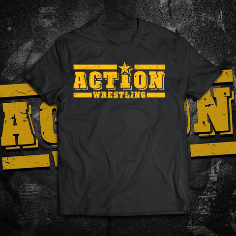 ACTION Wrestling Logo T-Shirt