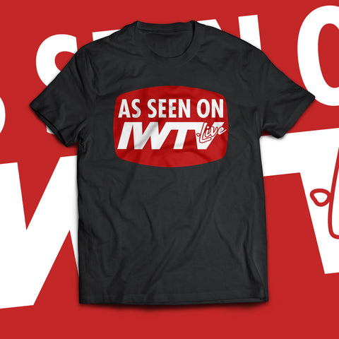 """As Seen on IWTV"" Red & White Logo Soft T-Shirt"