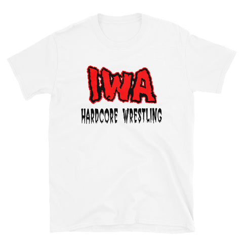 "IWA Mid-South ""Hardcore Wrestling Since 97"" White T-Shirt"