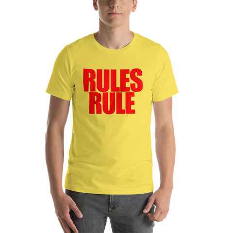 "Beyond Wrestling ""Rules Rule"" Premium T-Shirt"