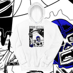 "Beyond Wrestling ""Abducted"" White Pullover Hoodie designed by Bam Sullivan"