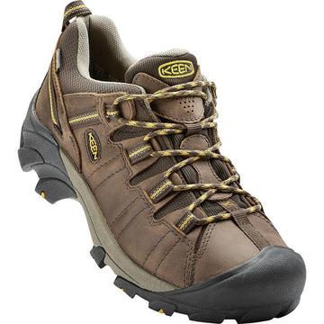 Men's Keen Targhee Ii Low Waterproof Wide in Cas Br/ Ylw
