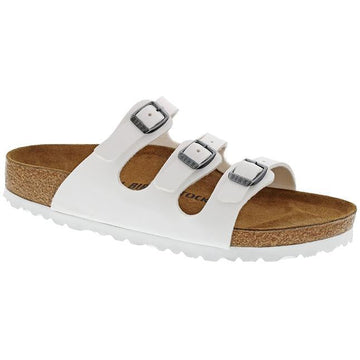 Women's Birkenstock Florida Birko Flor Regular in White  sku: 1016765