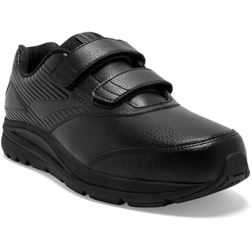 Quarter view Men's Brooks Footwear style name Addiction Walker V-Strap 2 Double Wide in color Black. Sku: 110320-4E072