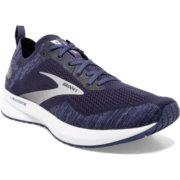 Men's Brooks Levitate 4 Neutral - Medium in Navy/ Grey/ White sku: 110345-1D439