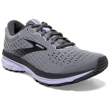 Women's Brooks Ghost 13 Neutral - Medium in Grey/ Blackened Pearl/ Purple sku: 120338-1B084