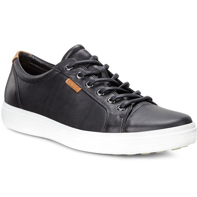 Men's ECCO Soft 7 Sneaker in Black/ Black