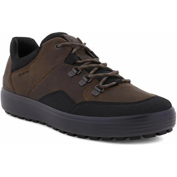 Men's ECCO Soft 7 Tred Gore-Tex in Black/ Cocoa Brown sku: 450354-55275