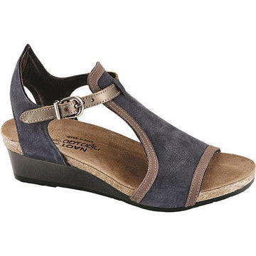 Women's Noat Fiona in Navy Velvet Nubuck/ Shiitake Nubuck/ Pewter Leather sku: 5042-PCS