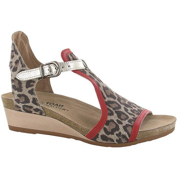 Women's Noat Fiona in Cheetah Suede/ Kiss Red Leather/ Radiant Gold Leather sku: 5042-SIR