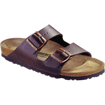 Women's Birkenstock Arizona Birko Flor Narrow in Dark Brown