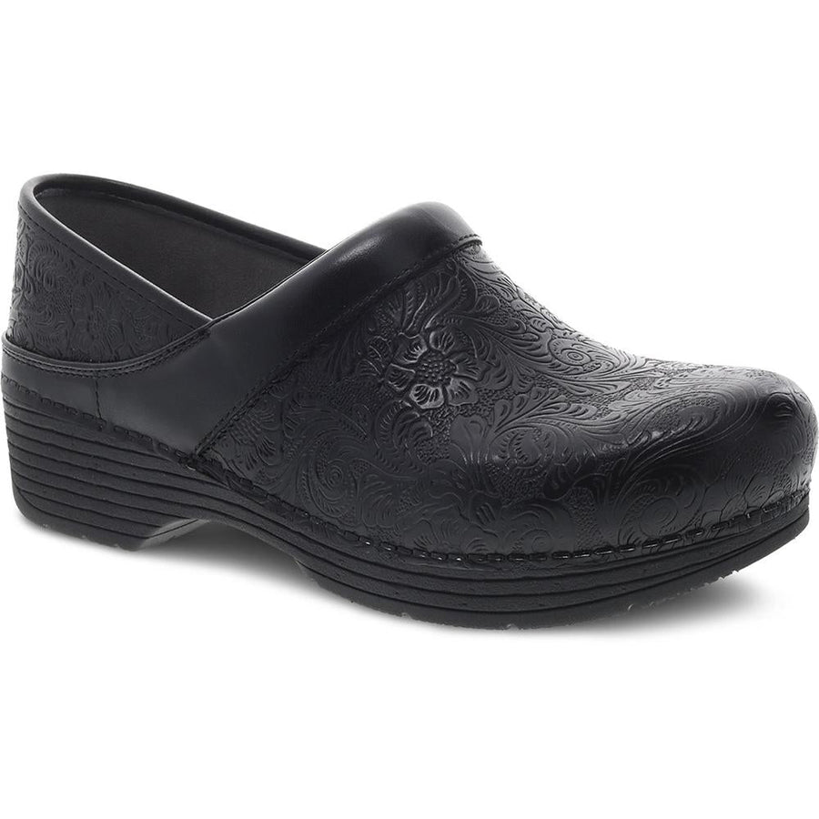 Women's Dansko LT Pro in Black Floral Tooled sku: 5200-360202