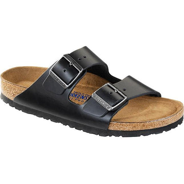 Women's Birkenstock Arizona Soft Footbed Regular in Black Amalfi