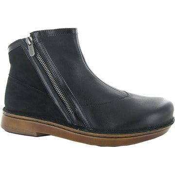 Women's Naot Spello in Softblack Leather/ Black Madras Leather/ Black Velvet Nubuck sku: 63430-NRH