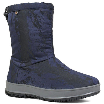 Women's Bogs Snowday Mid in Dark Blue  sku: 72402-402