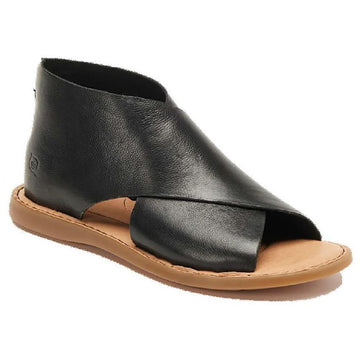Quarter view Women's Born Footwear style name Iwa in color Black. Sku: BR0018400