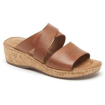 Quarter view Women's Born Footwear style name Luna in color Brown. Sku: BR0021006