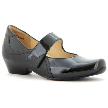 Ziera women's shoe Cassidy in Black Patent/ Black