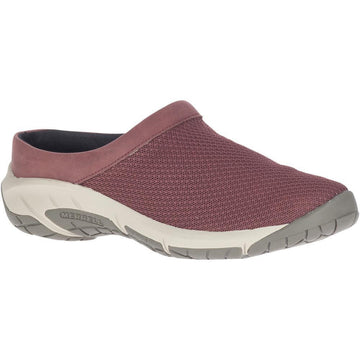 Quarter view Women's Merrell Footwear style name Encore Breeze 4 in color Marron. Sku: J003254