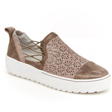 Quarter view Women's Jambu Footwear style name Erin in color Taupe. Sku: J9ERN54