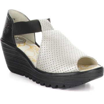 Women's Fly London Yemo Wide in Silver/ Black sku: P501197-004