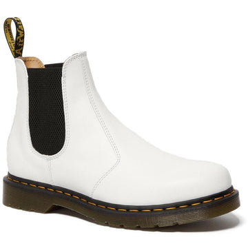 Women's Dr Marten 2977 Yellow Stitch Smooth in White sku: R26228100